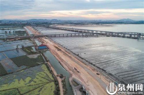 石狮锦江外线预计年底通车 滨海景观廊道便民更