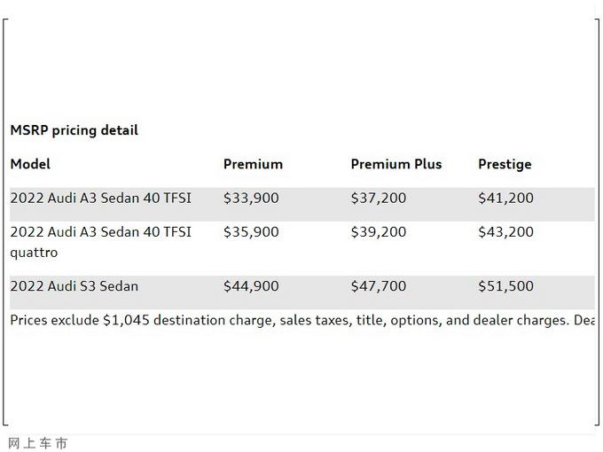 奥迪全新S3售价曝光搭2.0T引擎/动力大幅提升-图2