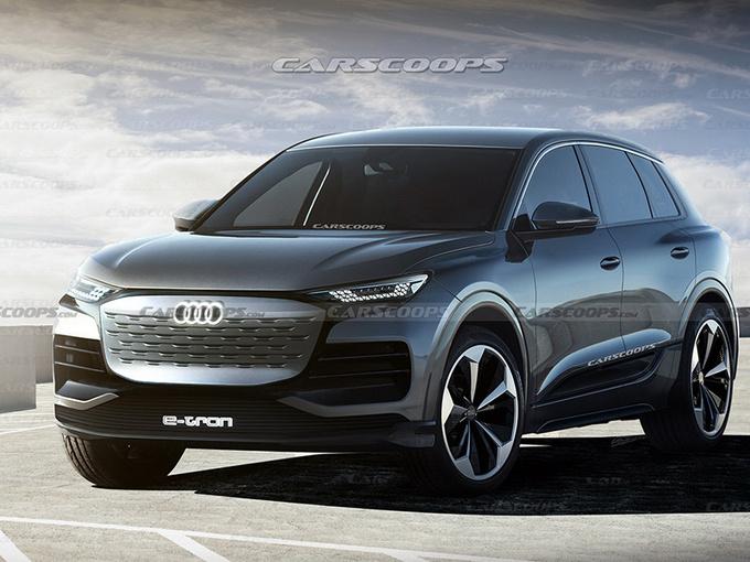 奥迪全新SUV渲染图!保时捷同平台打造/明年发布