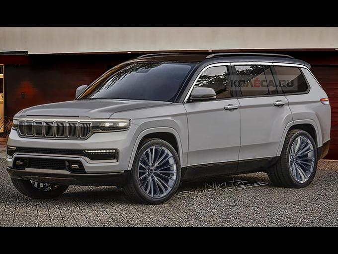 Jeep全新大切诺基新图曝光!搭3.6L引擎/轴距加长