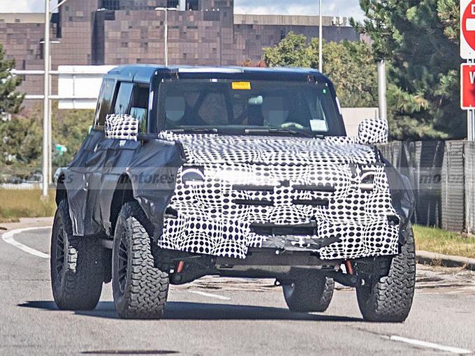 福特Bronco高性能版最新谍照!车身尺寸接近牧马