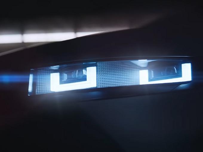 现代全新纯电SUV预告 像素化灯组/即将亮相