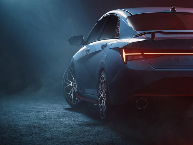 现代伊兰特新车型一周后发布!搭2.0T/动力升级