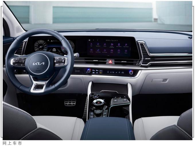 起亚全新SUV实车街拍搭1.6T引擎/比汉兰达耐看-图6