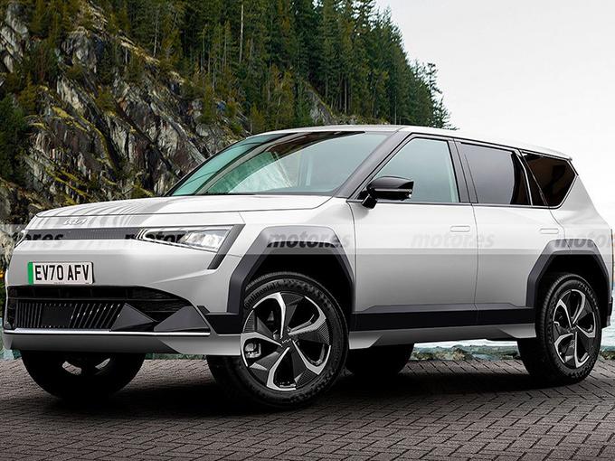 起亚全新SUV外观曝光!造型方正/或提供七座布局