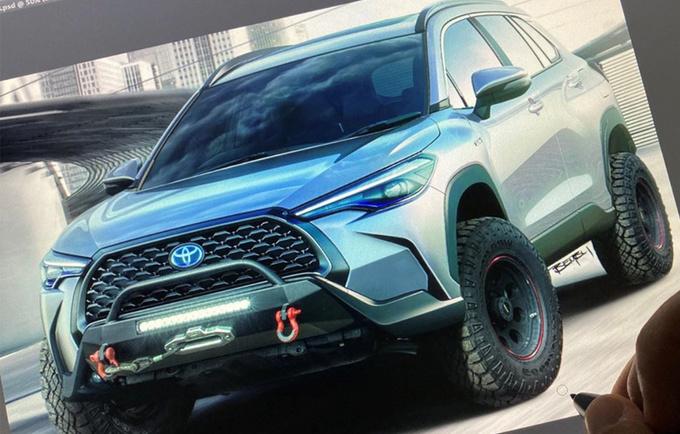 """丰田""""SUV版卡罗拉""""越野车型设计图  造型更硬派"""
