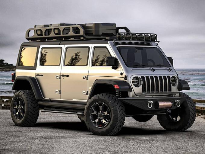 Jeep全新四驱MPV设计曝光!基于牧马人平台/6座布局