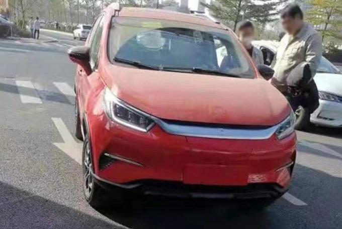 比亚迪新款元EV实车 换汉EV同款前脸-售价或下调