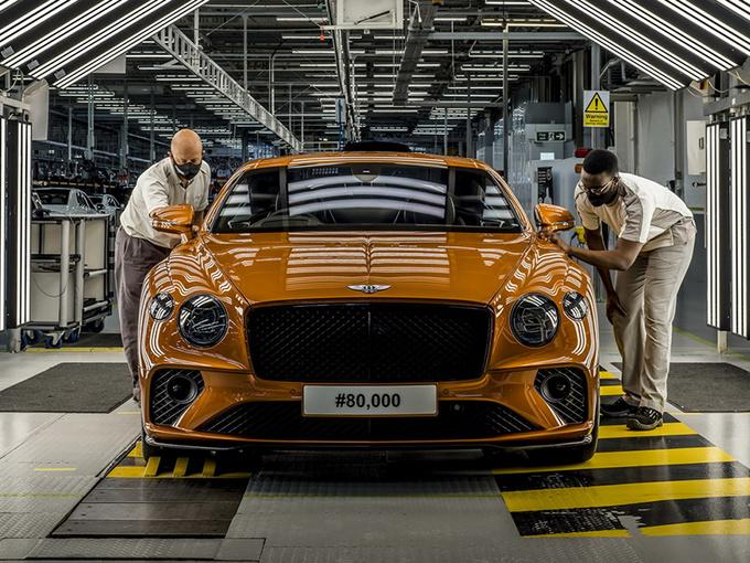 宾利欧陆GT第八万台下线 搭4.0T引擎/独特橙色车身