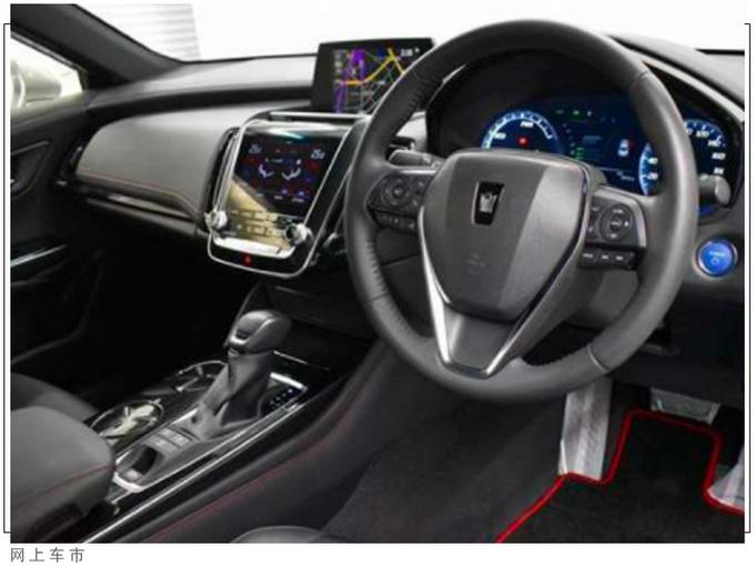 丰田皇冠运动版实拍搭3.5L引擎/内配双屏幕-图5