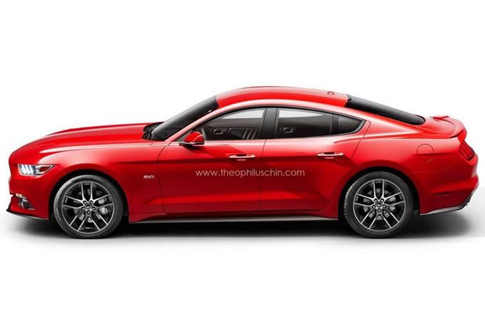 福特野马四门版车型确认!搭V8引擎/实用性提升