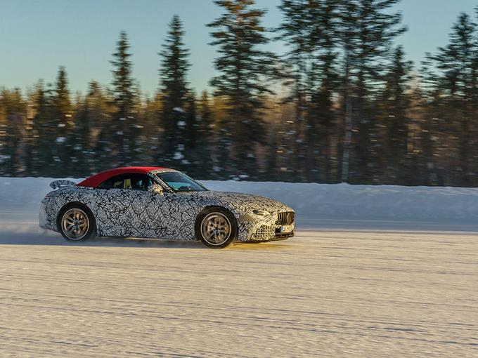 奔驰全新一代SL曝光!搭4.0T V8/将取代AMG GT车型
