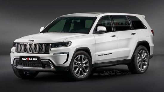 全新一代Jeep大切诺基渲染图曝光 造型更大气