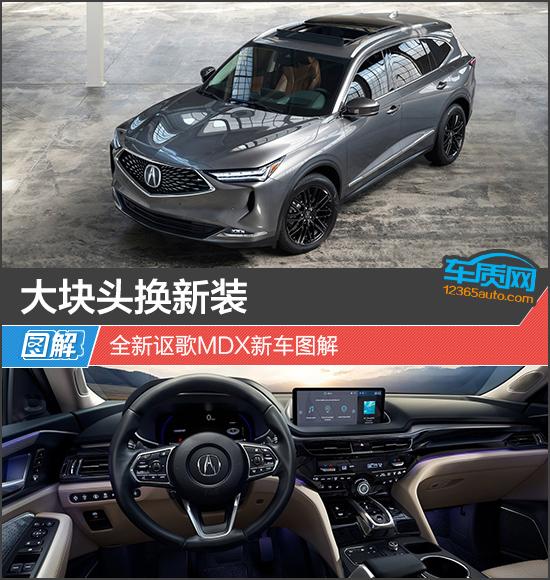 大块头换新装 全新讴歌MDX新车图解