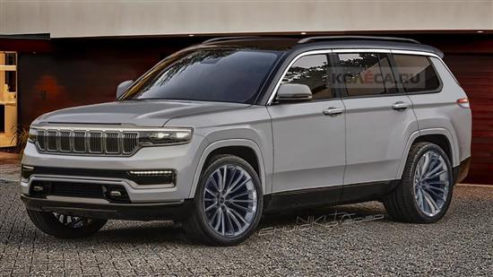 Jeep全新大切诺基渲染图 2021年一季度亮相