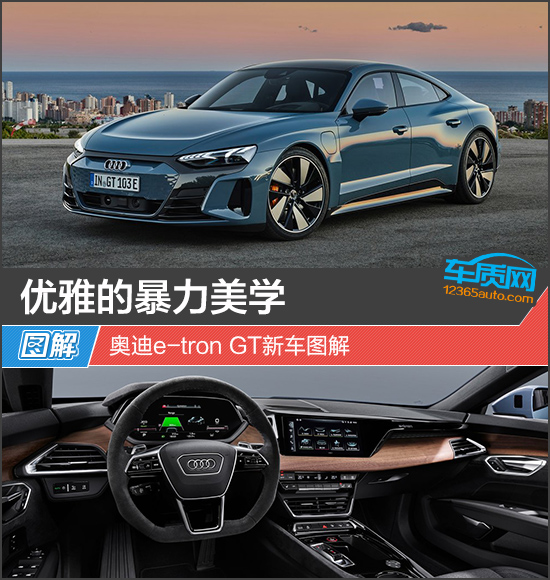 优雅的暴力美学 奥迪e-tron GT新车图解