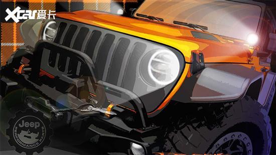 Jeep牧马人纯电动版预告图 3月底亮相