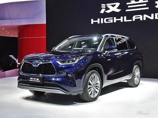 或全系混动 丰田全新汉兰达将下半年上市