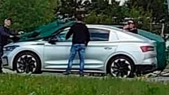 斯柯达全新纯电动SUV谍照 MEB平台新产品