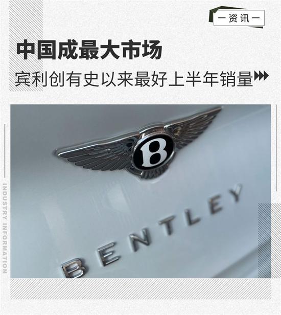中国成最大市场 宾利创有史以来最好销量