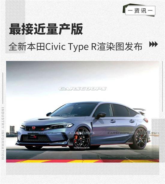 最接近量产版 本田Civic Type R渲染图发布